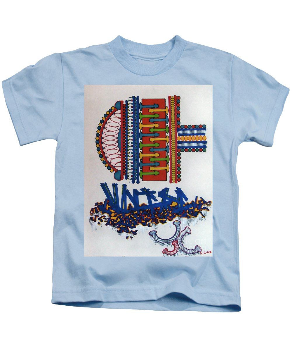 Horseshoe Kids T-Shirt featuring the drawing Rfb0410 by Robert F Battles