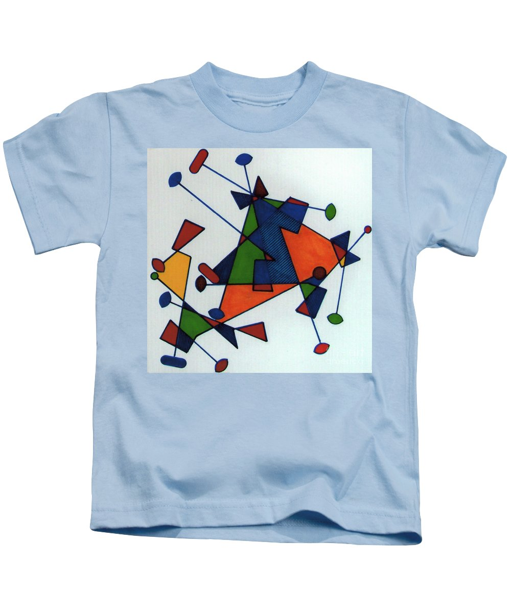 Color Movement Kids T-Shirt featuring the drawing Rfb0586 by Robert F Battles