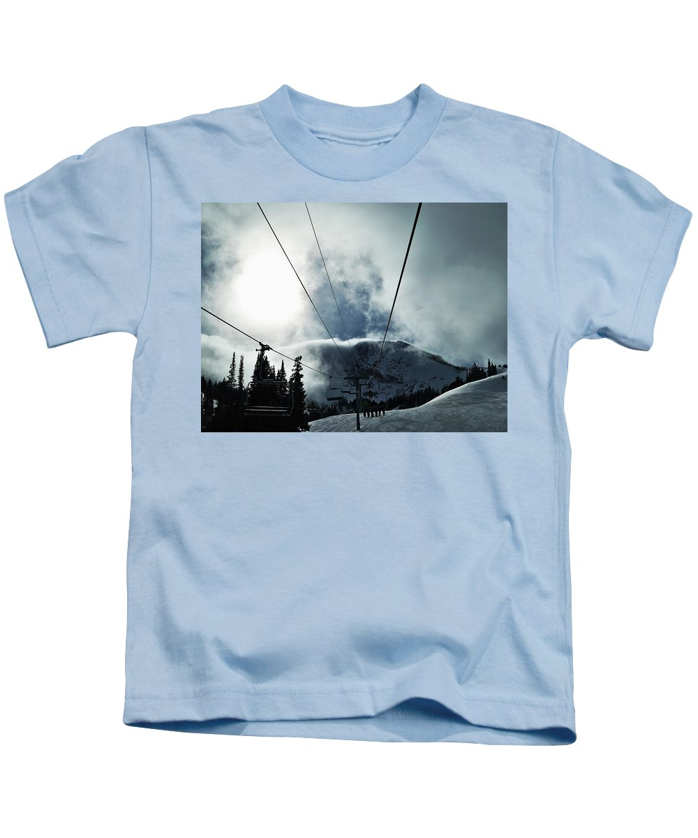 Landscape Kids T-Shirt featuring the photograph Rise To The Sun by Michael Cuozzo