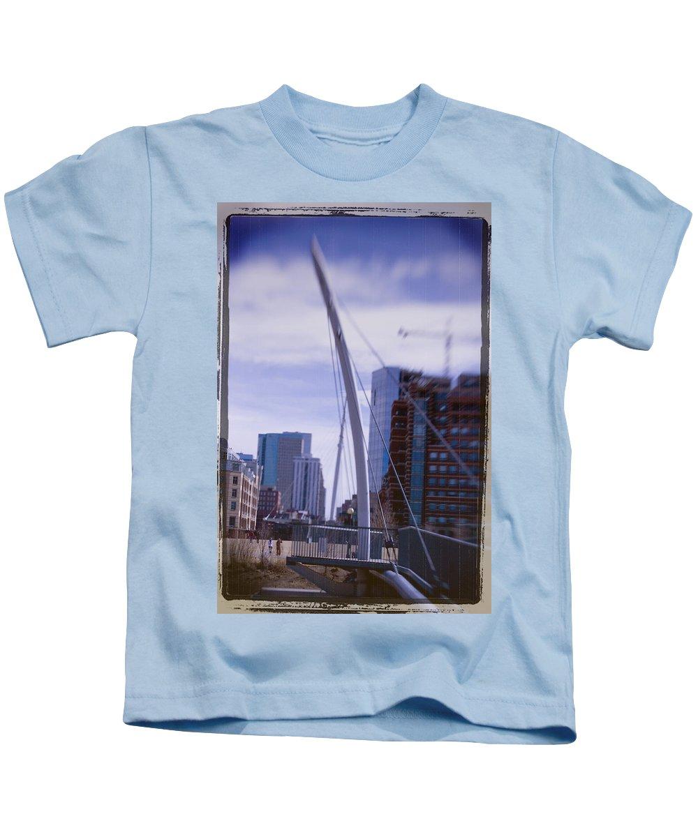 Denver Kids T-Shirt featuring the photograph River Front Park by Jeffery Ball