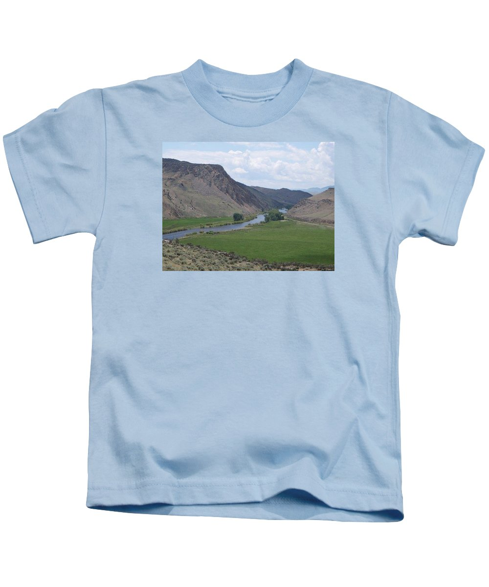 Landscape Kids T-Shirt featuring the photograph River In The Midst by Mary Lynne Crispo