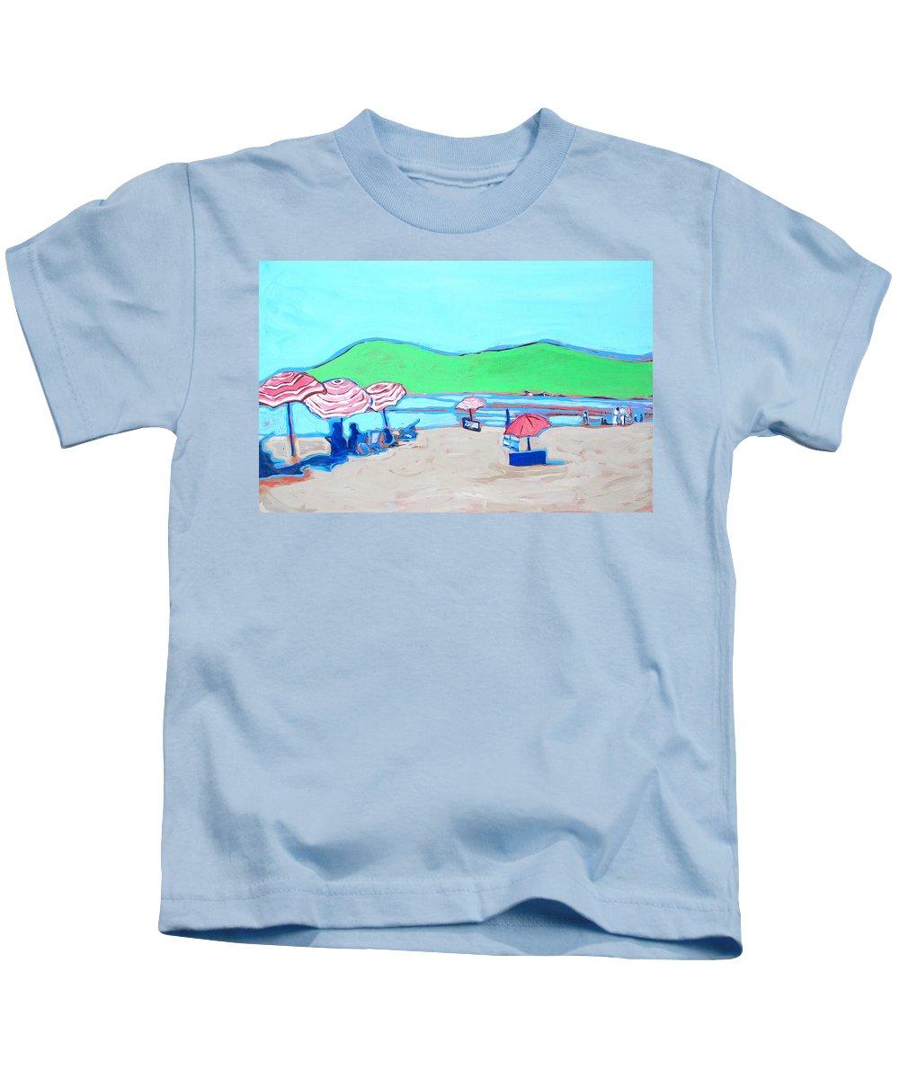 Seashore Kids T-Shirt featuring the painting Riviera by Kurt Hausmann