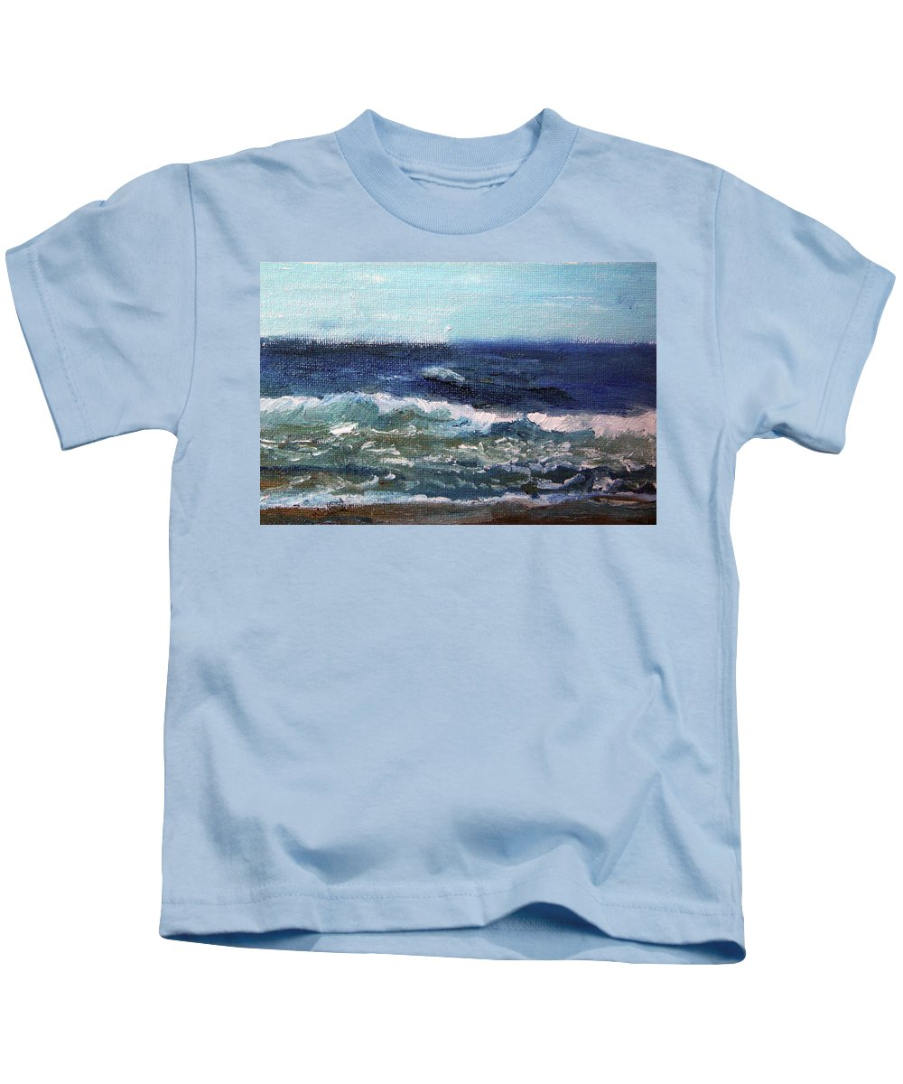 Nature Kids T-Shirt featuring the painting Rolling Along by Michael Helfen