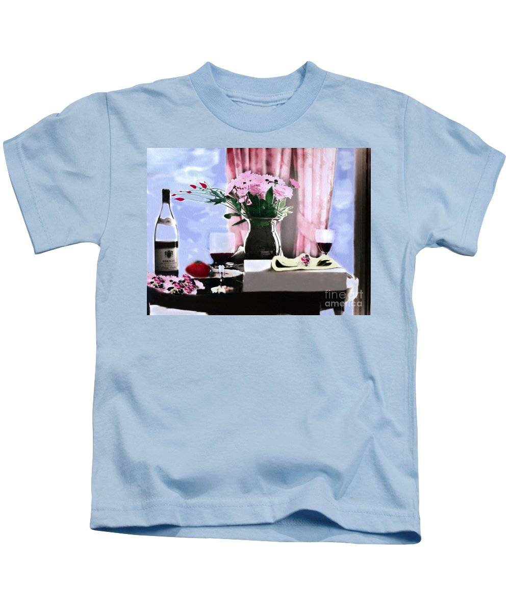 Romantic Kids T-Shirt featuring the photograph Romance In The Afternoon 2 by Madeline Ellis