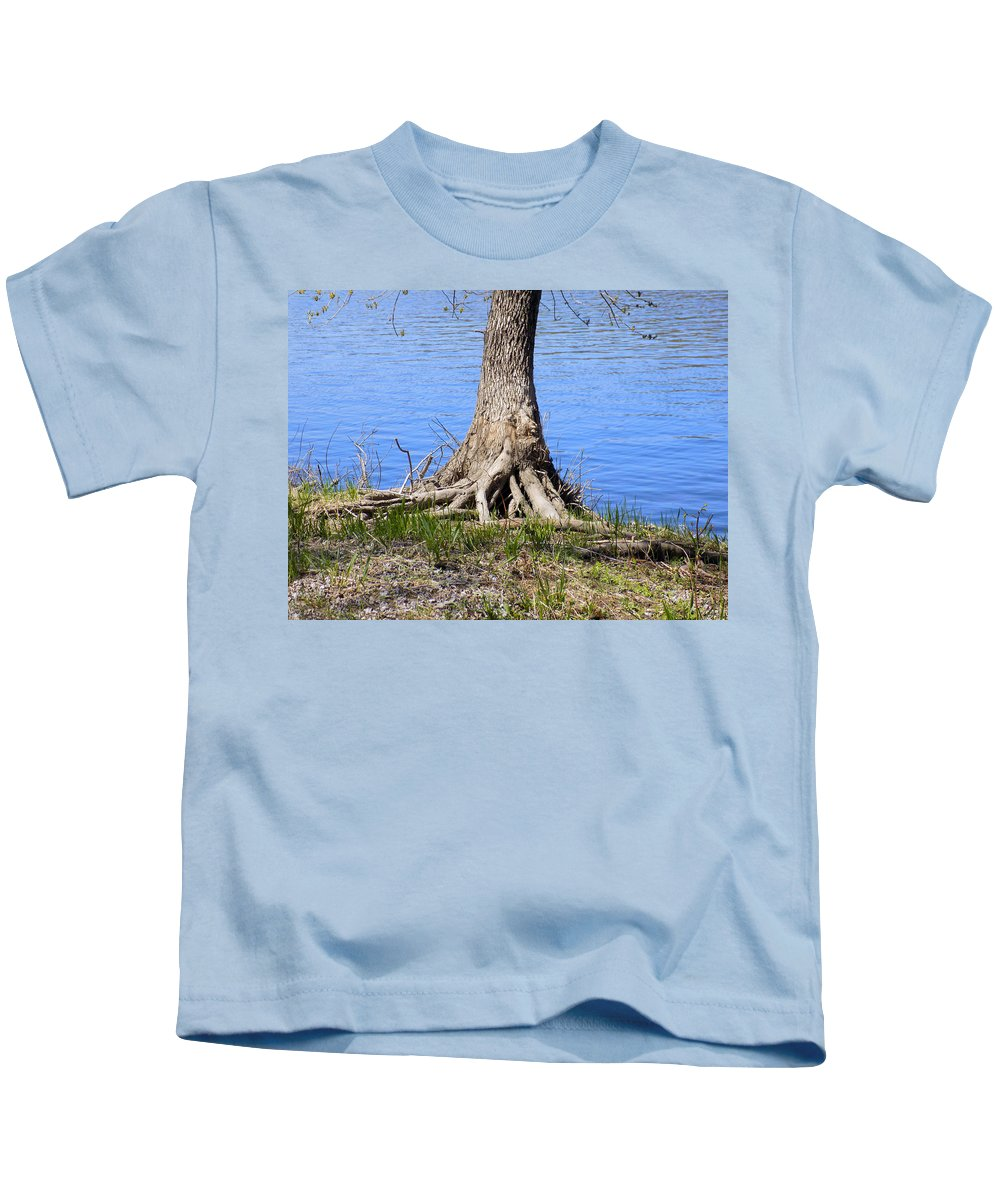 Roots Kids T-Shirt featuring the photograph Rooted by William Tasker