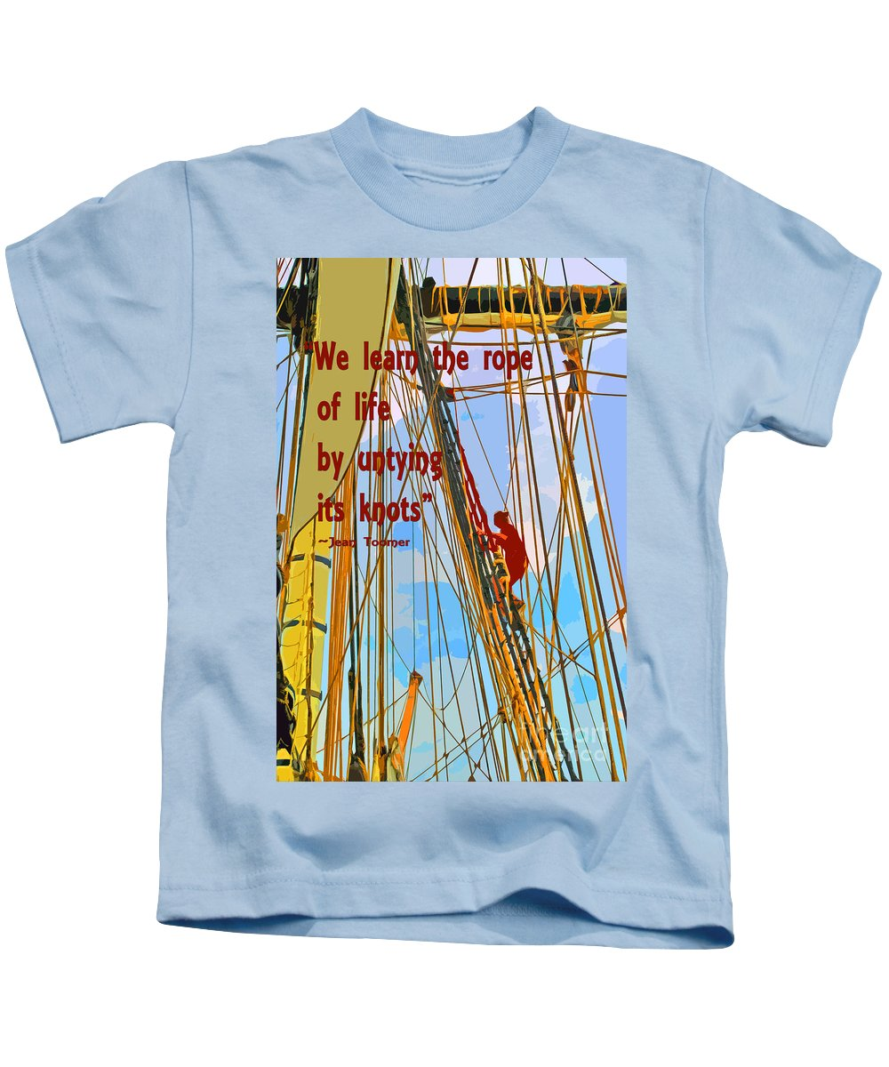 We Kids T-Shirt featuring the painting Rope Of Life by Jost Houk