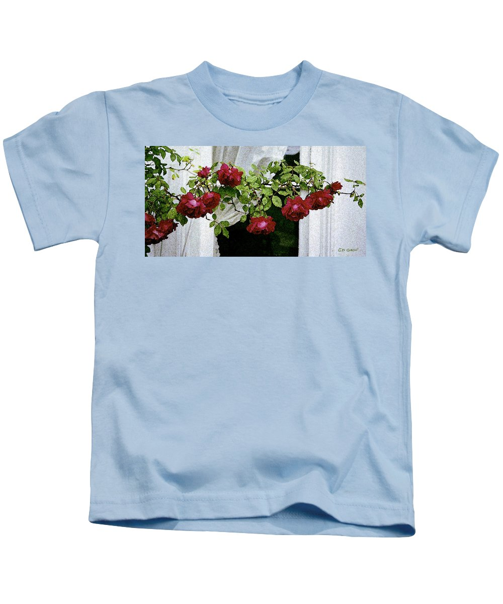 Maine Kids T-Shirt featuring the photograph Rose Window by Ed A Gage