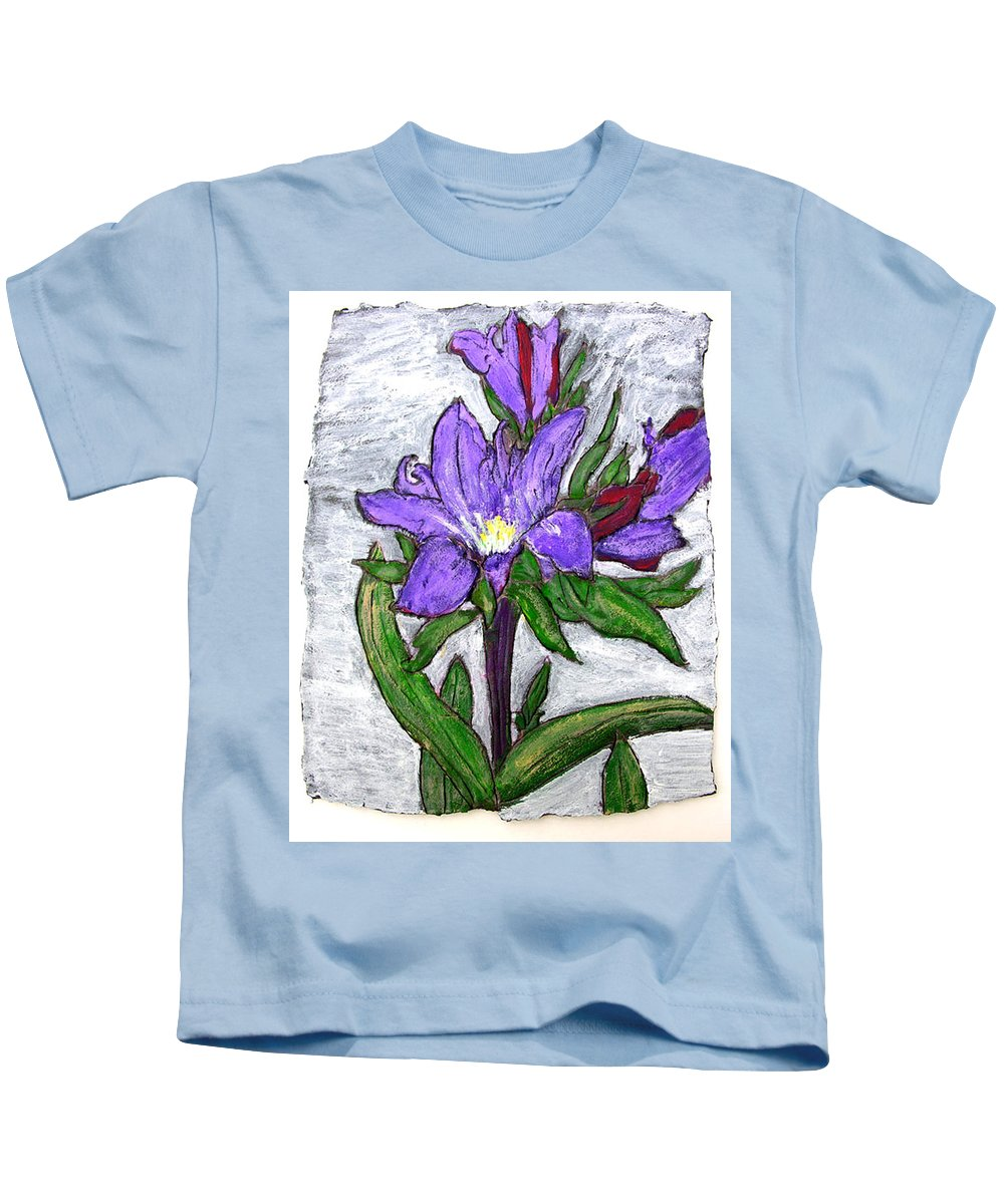 Flower Kids T-Shirt featuring the painting Royalty by Wayne Potrafka