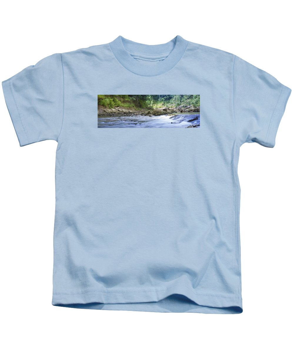 River Kids T-Shirt featuring the photograph Running Water by Will Akers
