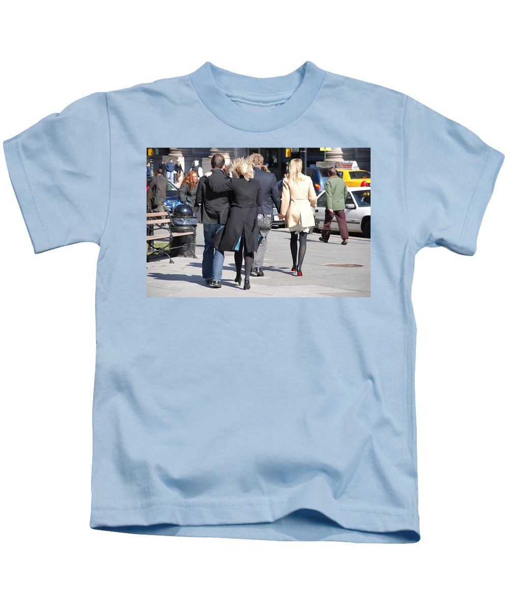 Urban Kids T-Shirt featuring the photograph Rushing To The Alter by Rob Hans