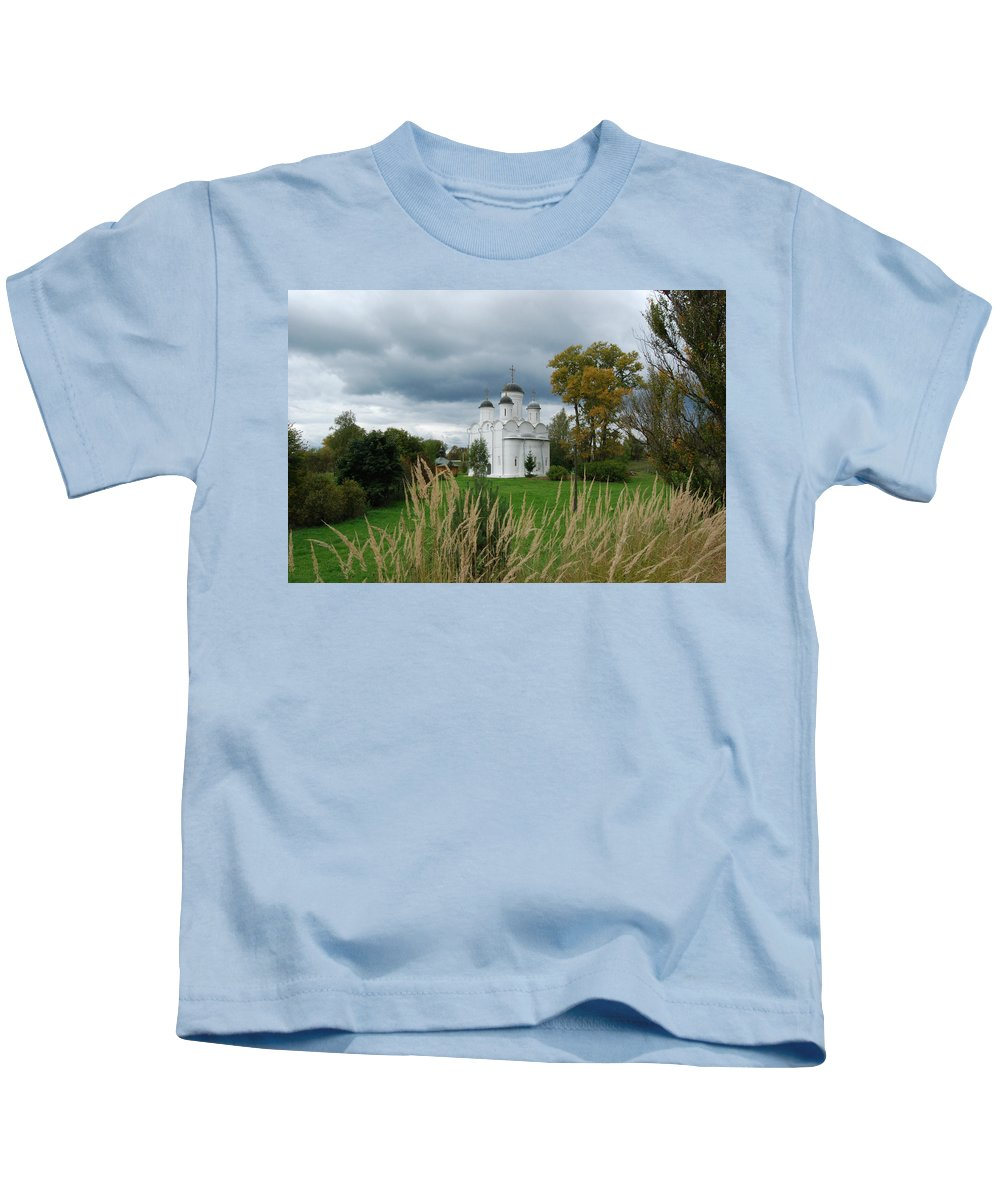 Antiquities Kids T-Shirt featuring the photograph Russian Orthodox Church by Sergei Dolgov