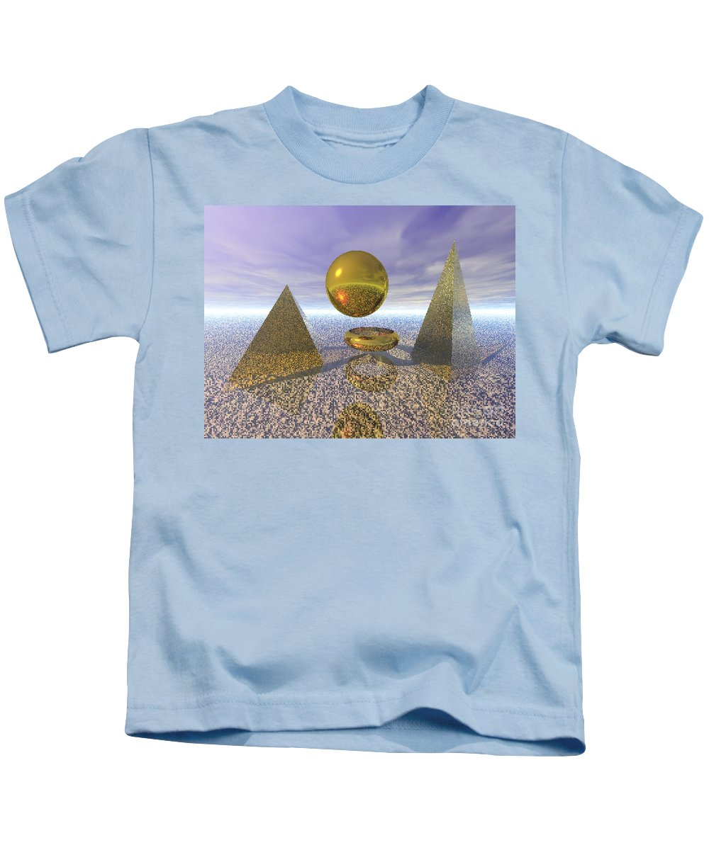 Meditation Kids T-Shirt featuring the digital art Sacred Geometry by Oscar Basurto Carbonell