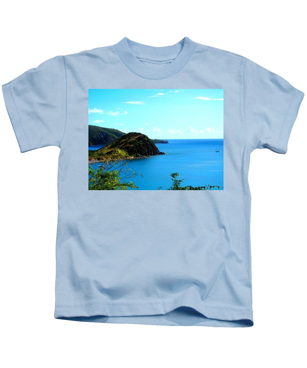 St Kitts Kids T-Shirt featuring the photograph Safe Harbor by Ian MacDonald