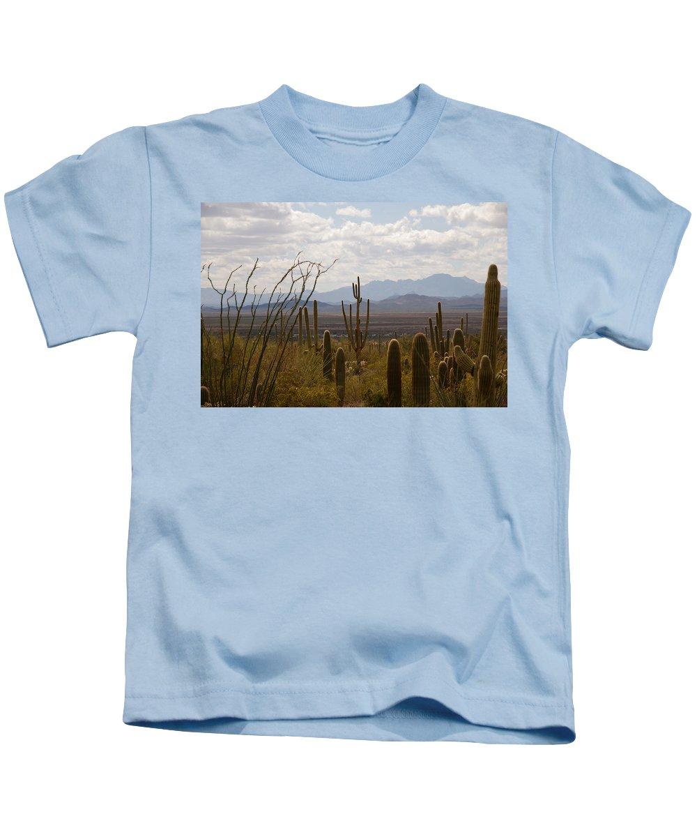 Saguaro Kids T-Shirt featuring the photograph Saguaro National Park Az by Susanne Van Hulst