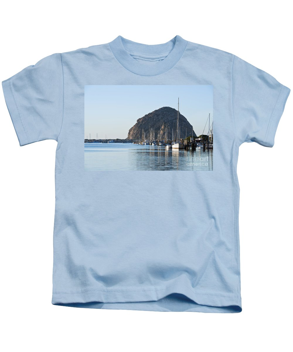 Afternoon Kids T-Shirt featuring the photograph Sailboats In Morro Bay by Bill Brennan - Printscapes
