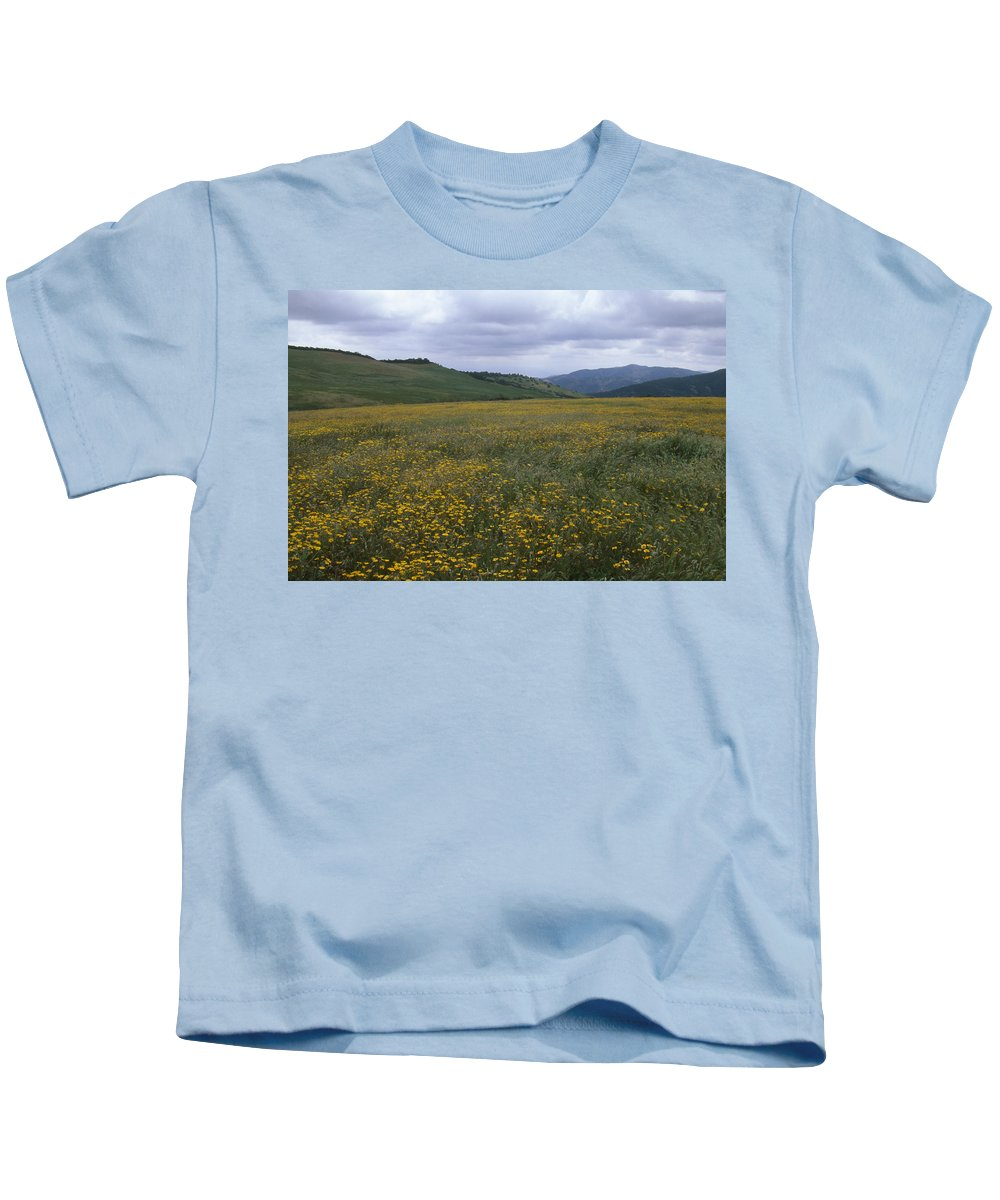 Wildflowers Kids T-Shirt featuring the photograph Salisbury Potrero - Sierra Madre Mountains by Soli Deo Gloria Wilderness And Wildlife Photography