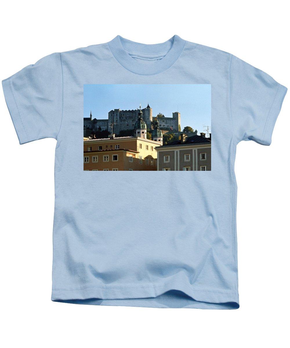 Europe Kids T-Shirt featuring the photograph Salzburg Austria 3 by Lee Santa