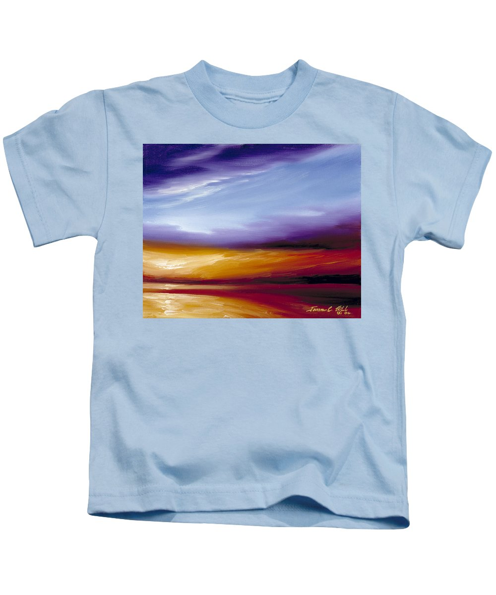 Skyscape Kids T-Shirt featuring the painting Sarasota Bay II by James Christopher Hill