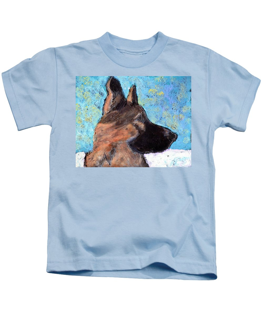 Dog Kids T-Shirt featuring the painting Sarge II by Wayne Potrafka