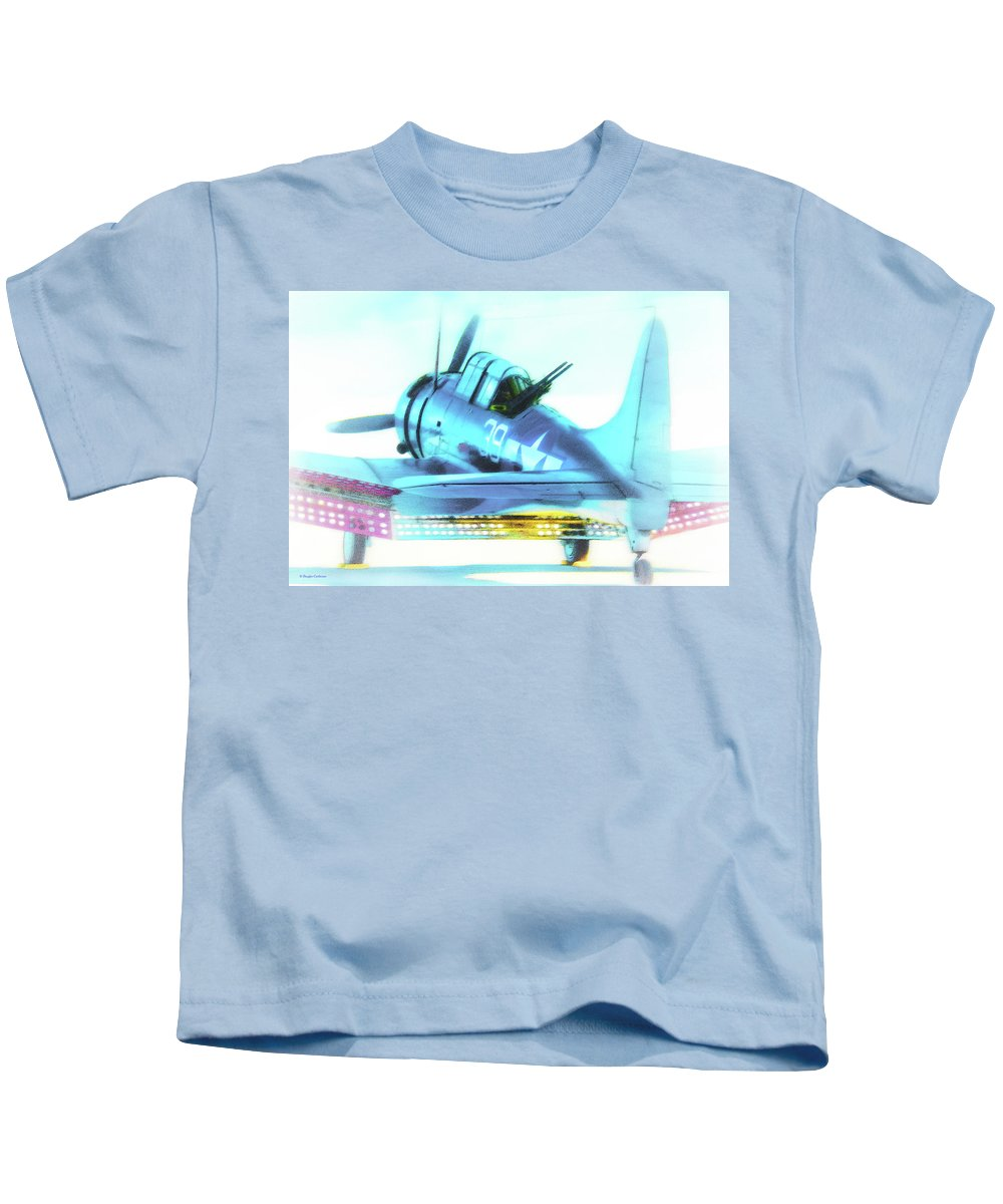 Military Kids T-Shirt featuring the digital art Sbd Dauntless by Douglas Castleman