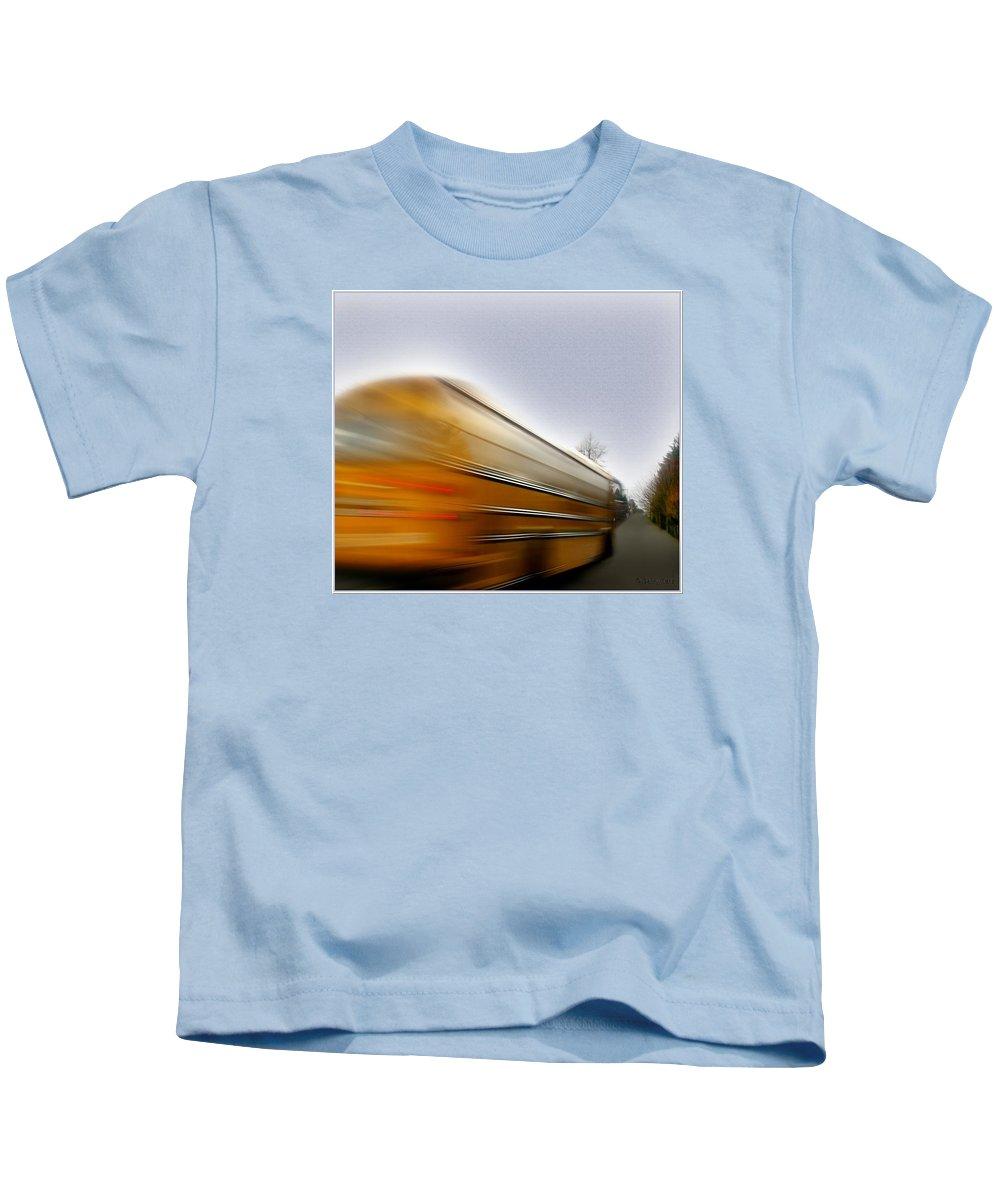 School Kids T-Shirt featuring the photograph School Bus by Gerry Tetz