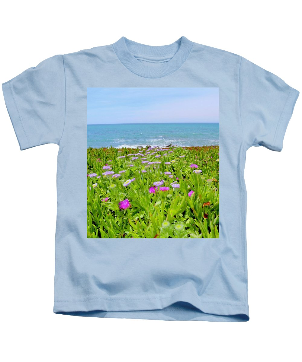 Sea Daisy Kids T-Shirt featuring the photograph Sea Daisy Trail by Erin Finnegan