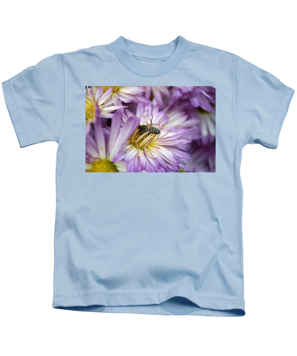 Flowers Kids T-Shirt featuring the photograph Searching Honey by Satyajit Dey