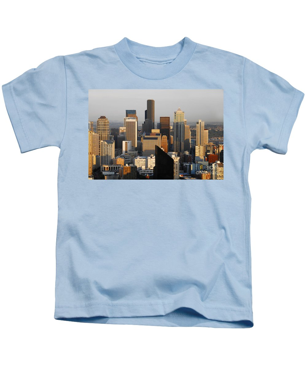 Seattle Washington Kids T-Shirt featuring the photograph Seattle by David Lee Thompson