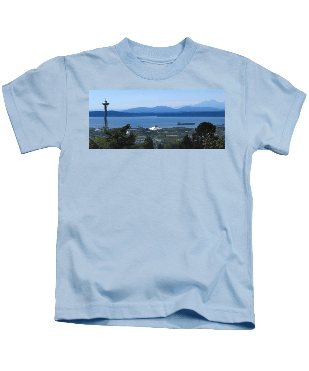 Seattle Kids T-Shirt featuring the photograph Seattle From Above by Jeffery Ball