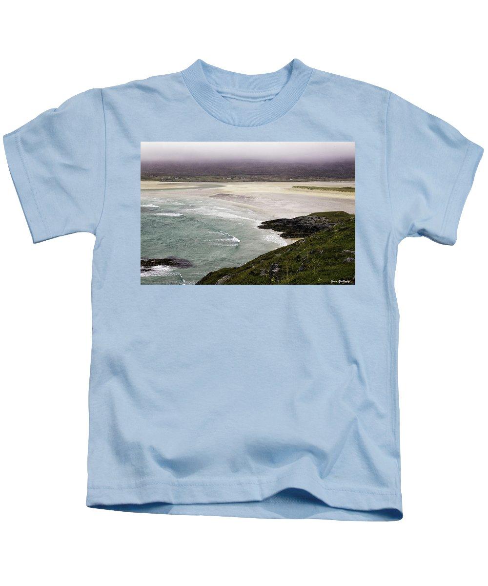 Seilebost Kids T-Shirt featuring the photograph Seilebost Beach by Fran Gallogly