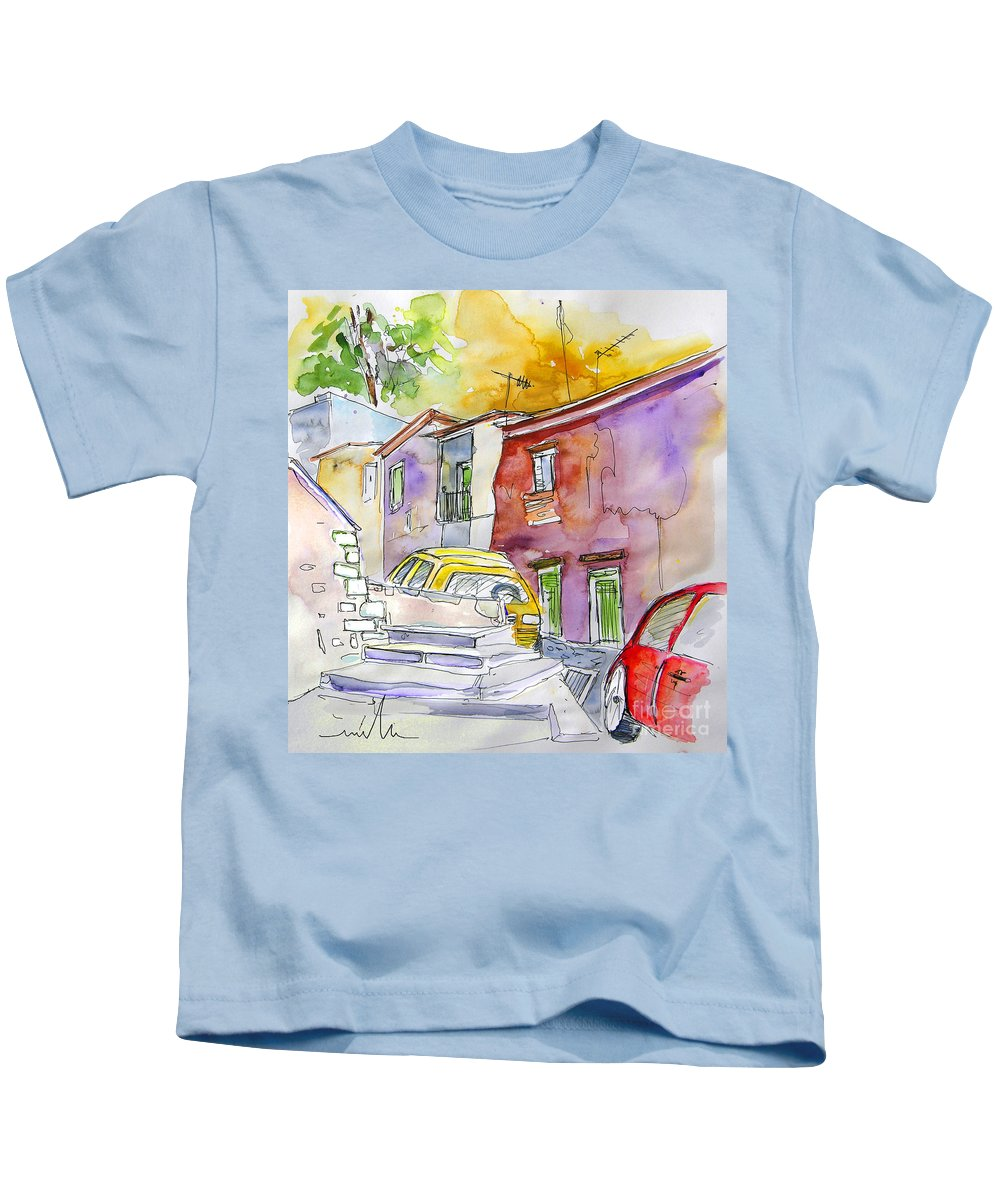 Portugal Paintings Kids T-Shirt featuring the painting Serpa Portugal 12 by Miki De Goodaboom