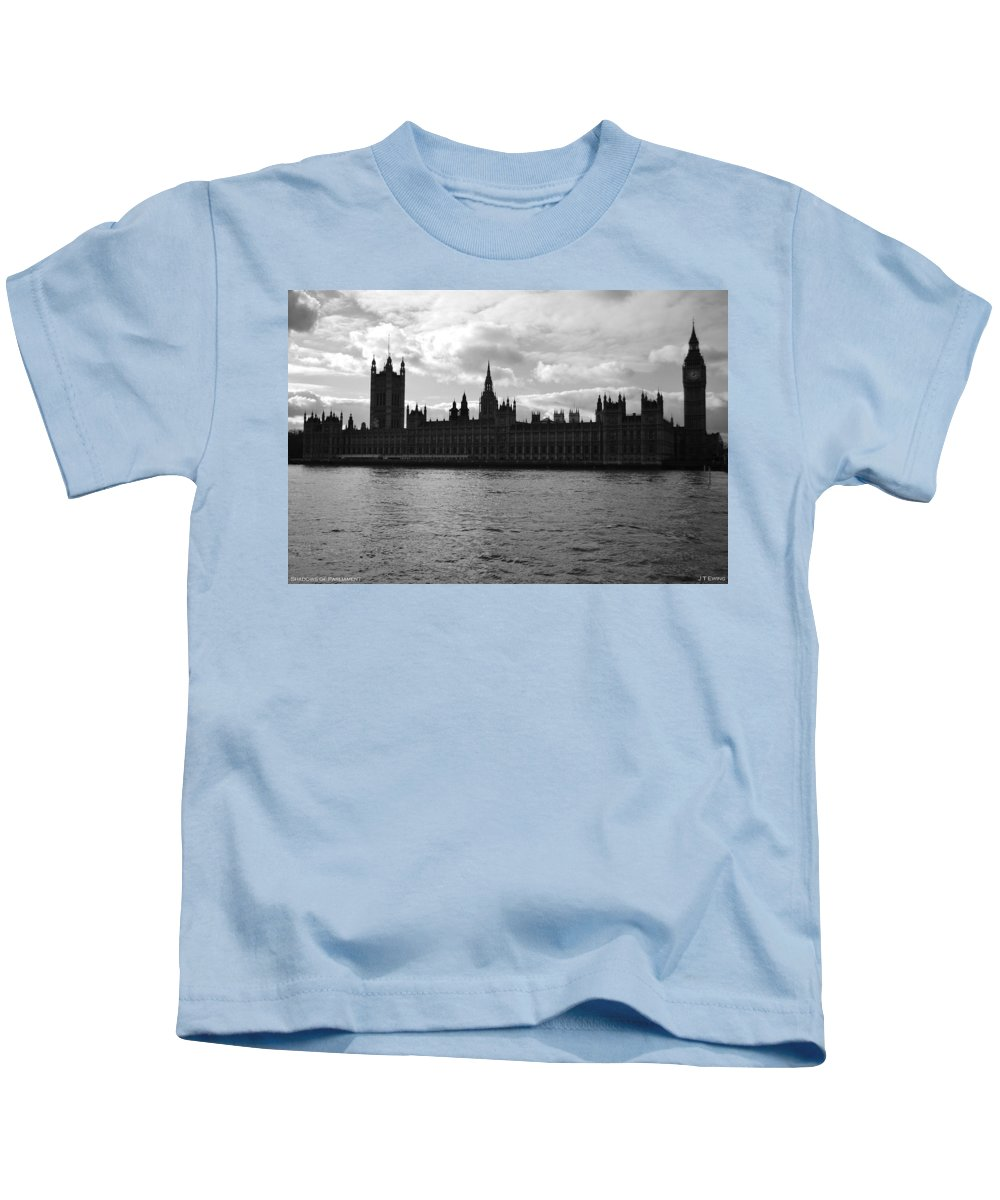 London Kids T-Shirt featuring the photograph Shadows Of Parliament by J Todd
