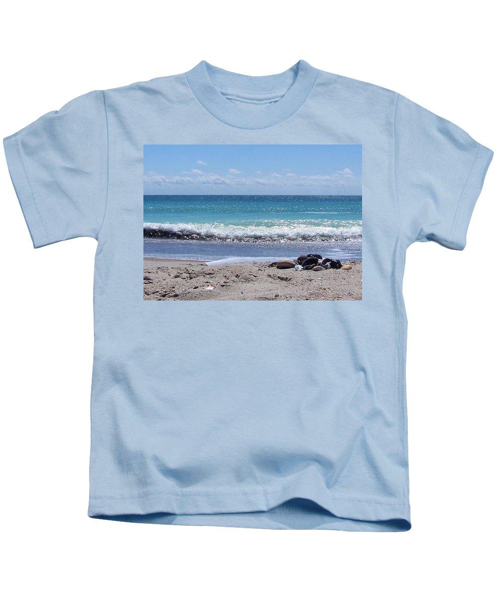 Beach Kids T-Shirt featuring the photograph Shells On The Beach by Sandi OReilly