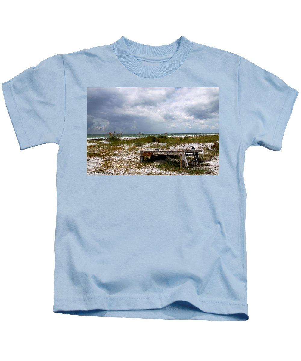 Shipwreck Kids T-Shirt featuring the photograph Ship Wrecked And Buried by Barbara Bowen