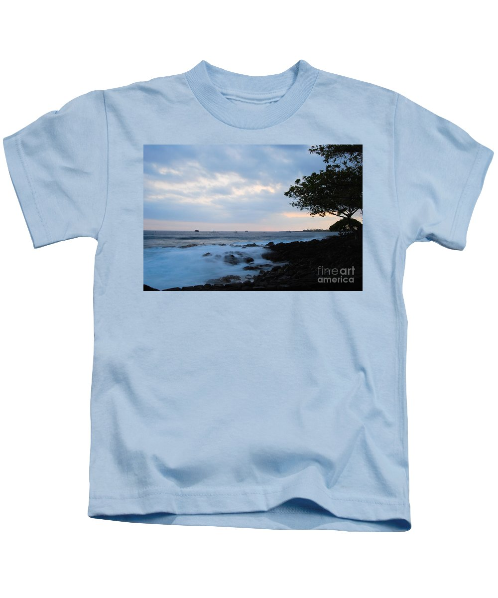 Nature Kids T-Shirt featuring the photograph Silky Waves At Dusk by Paulette B Wright