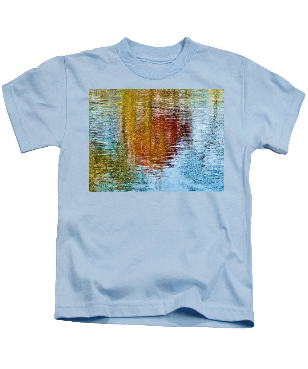 Silver Kids T-Shirt featuring the photograph Silver Lake Autumn Reflections by Michael Bessler