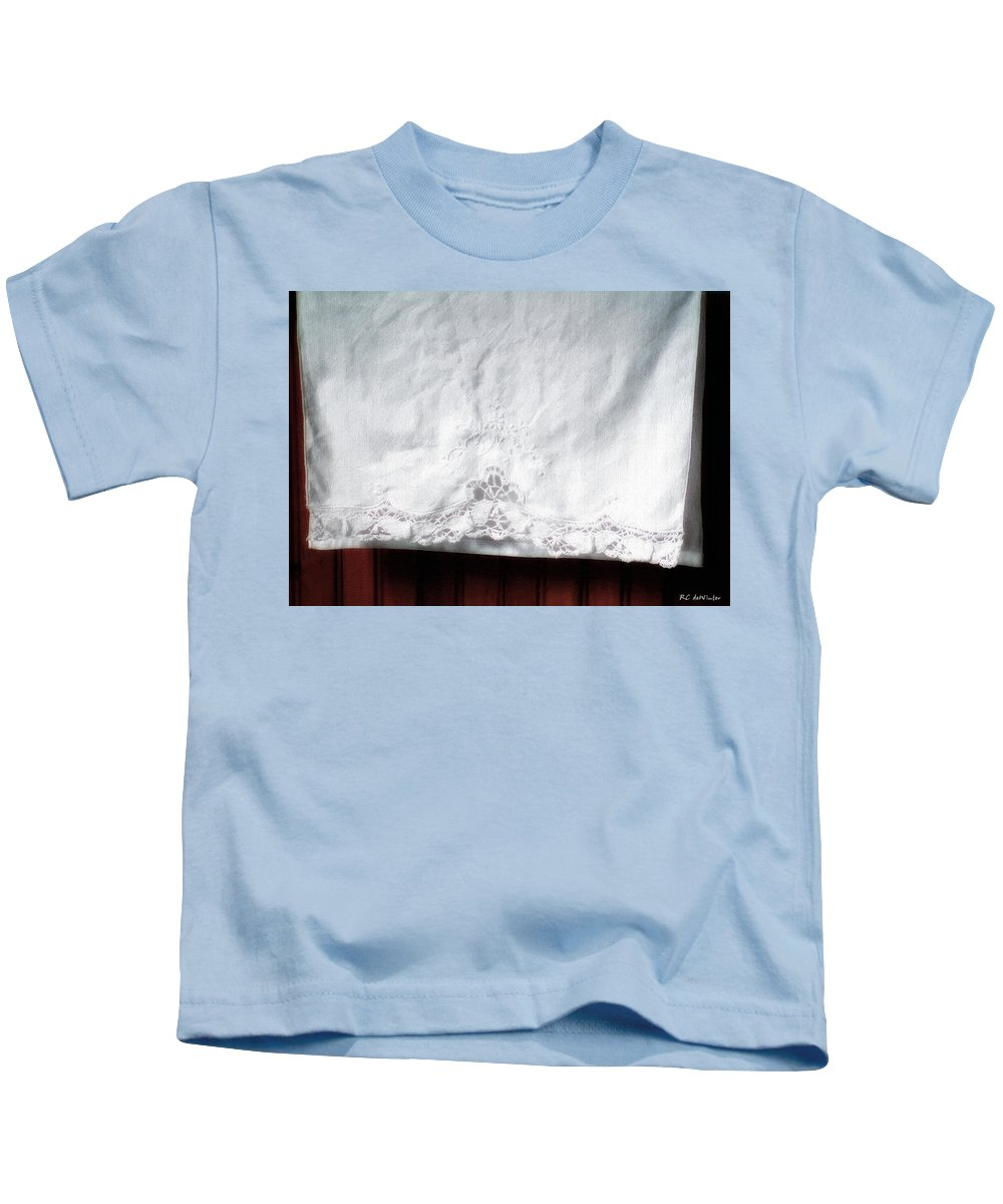Bedding Kids T-Shirt featuring the painting Simple Elegance by RC DeWinter