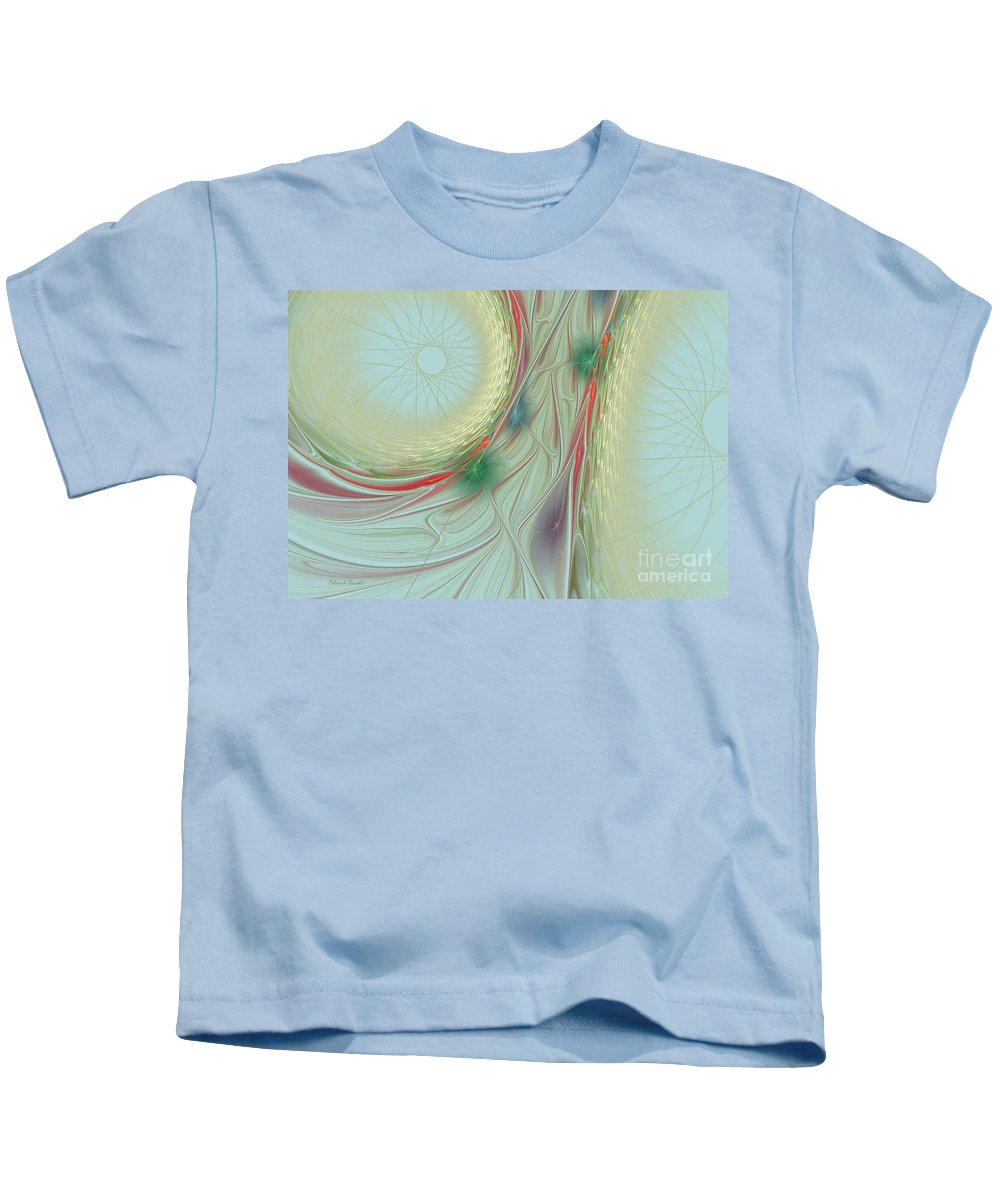 Spiral Kids T-Shirt featuring the photograph Singing The Blues by Deborah Benoit