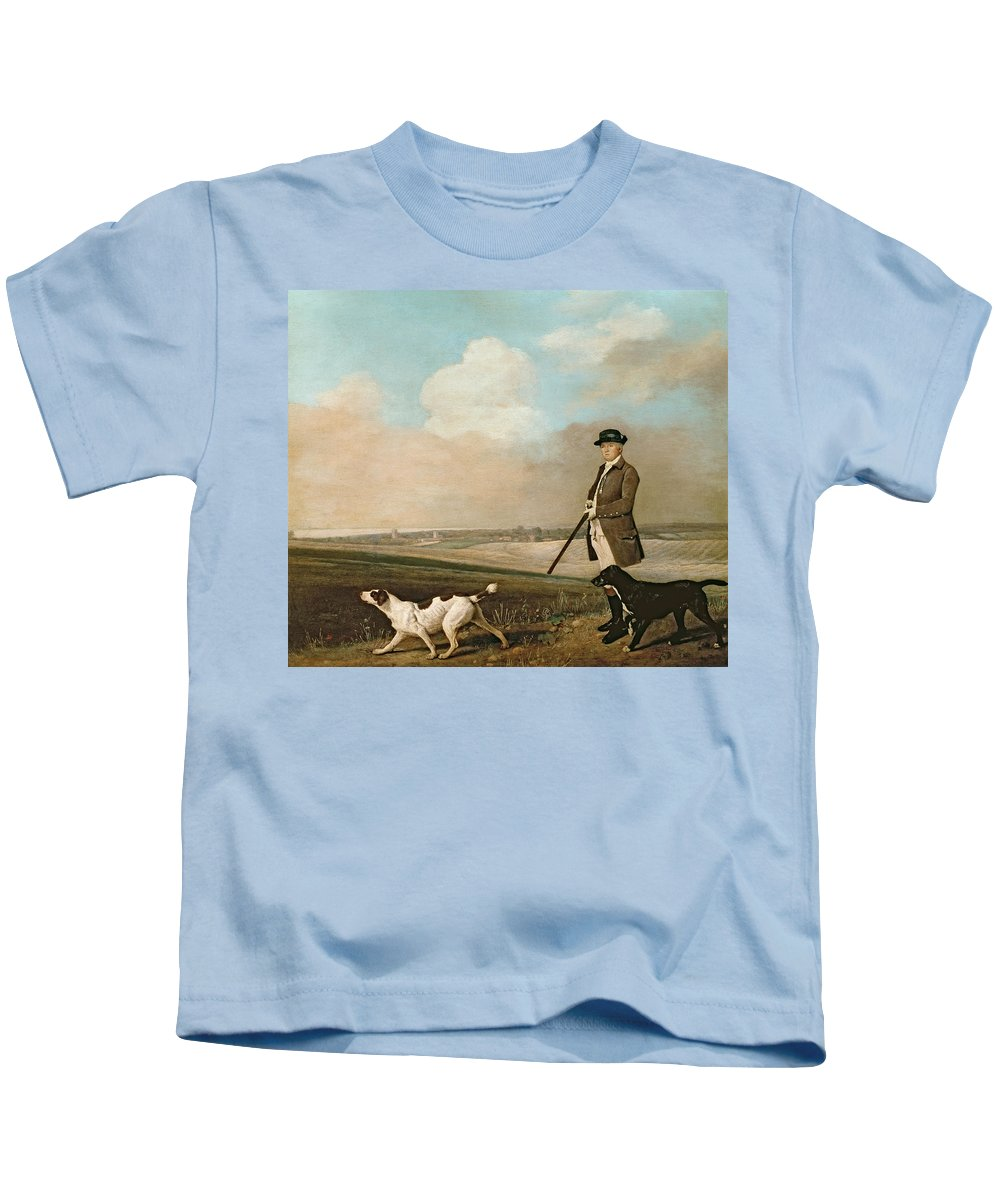 Sir Kids T-Shirt featuring the painting Sir John Nelthorpe by George Stubbs