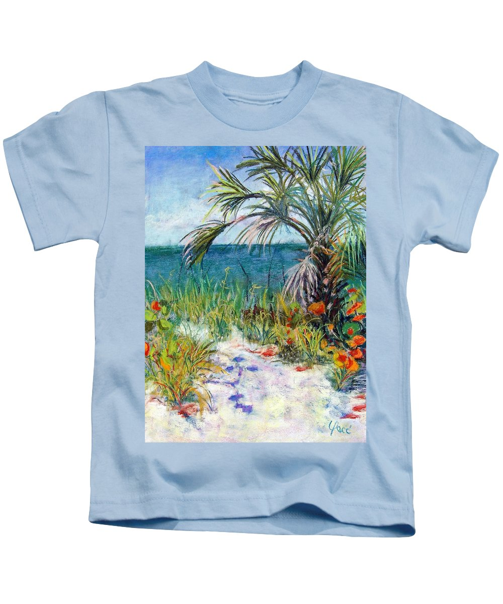 Wiggins Pass Kids T-Shirt featuring the painting Sitting At Wiggins Pass by Laurie Paci