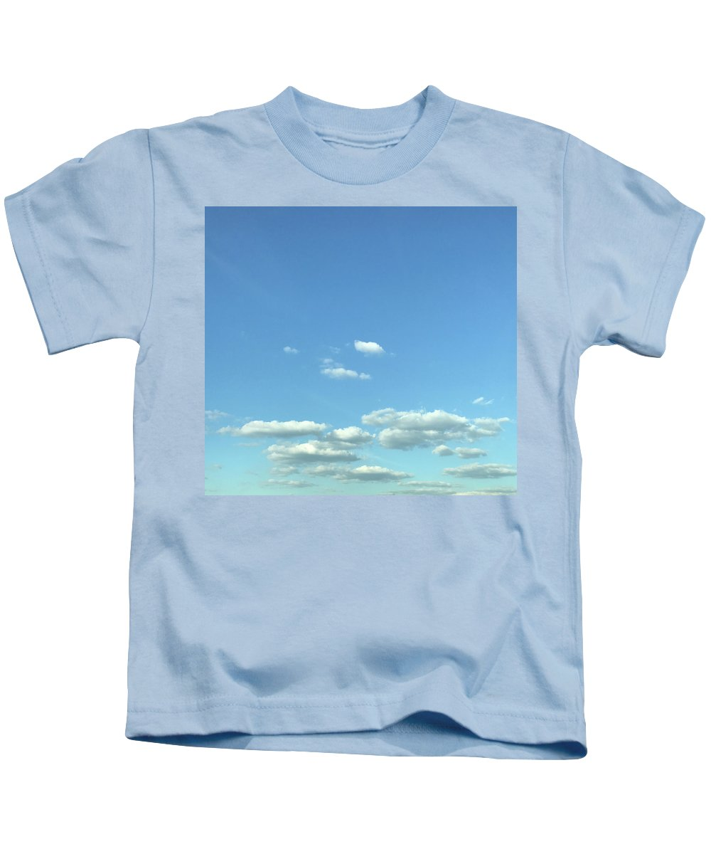 Clouds Kids T-Shirt featuring the photograph Skies by Theodore Johns