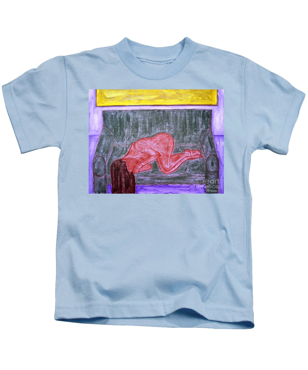 Sleeper Kids T-Shirt featuring the painting Sleeper by Patrick J Murphy
