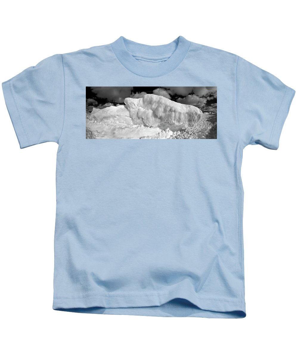 Photography Kids T-Shirt featuring the photograph Sleeping Ice Giant by Frederic A Reinecke