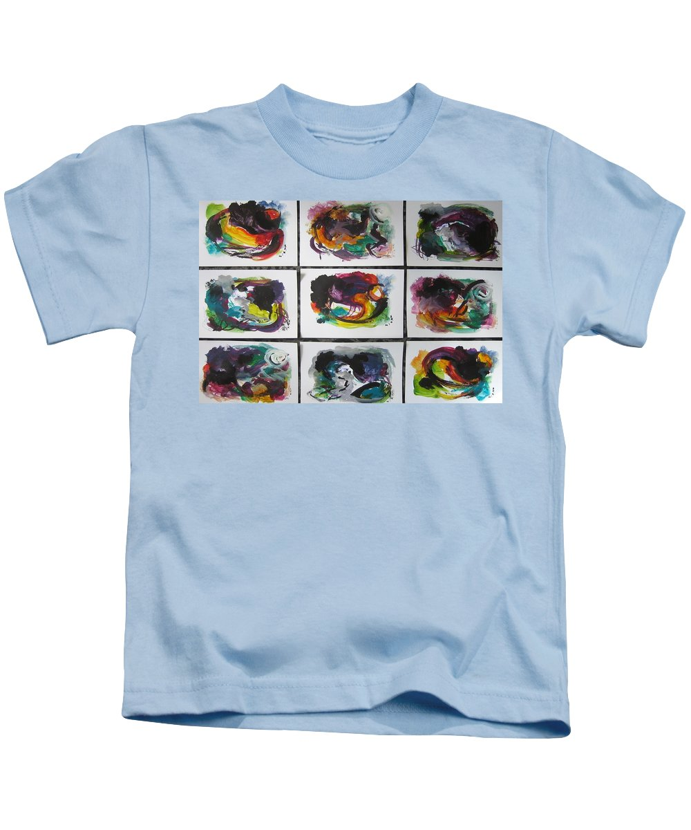 Abstract Paintings Kids T-Shirt featuring the painting Small Landscape4 by Seon-Jeong Kim