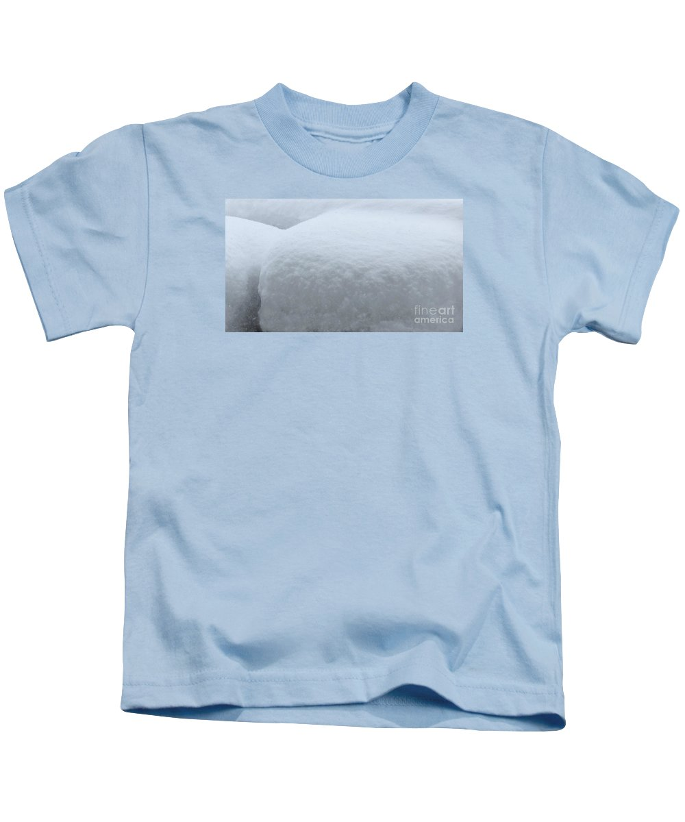 Snow Kids T-Shirt featuring the photograph Snow Abstract by Barbara Griffin