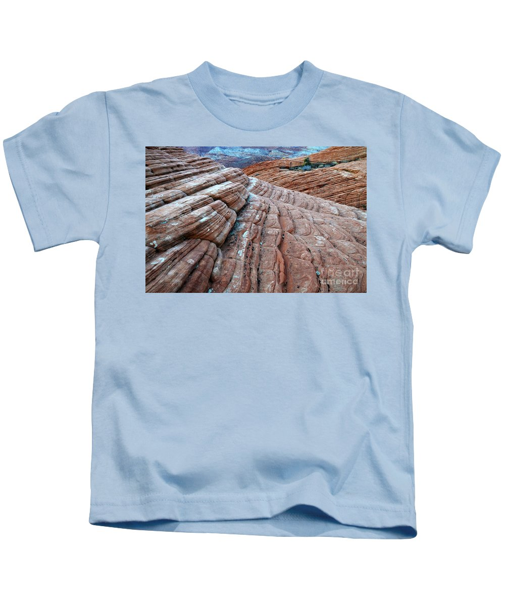 Snow Canyon Kids T-Shirt featuring the photograph Snow Canyon Utah 2 by Bob Christopher