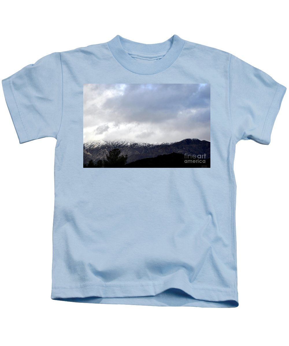 Clay Kids T-Shirt featuring the photograph Snow Line by Clayton Bruster