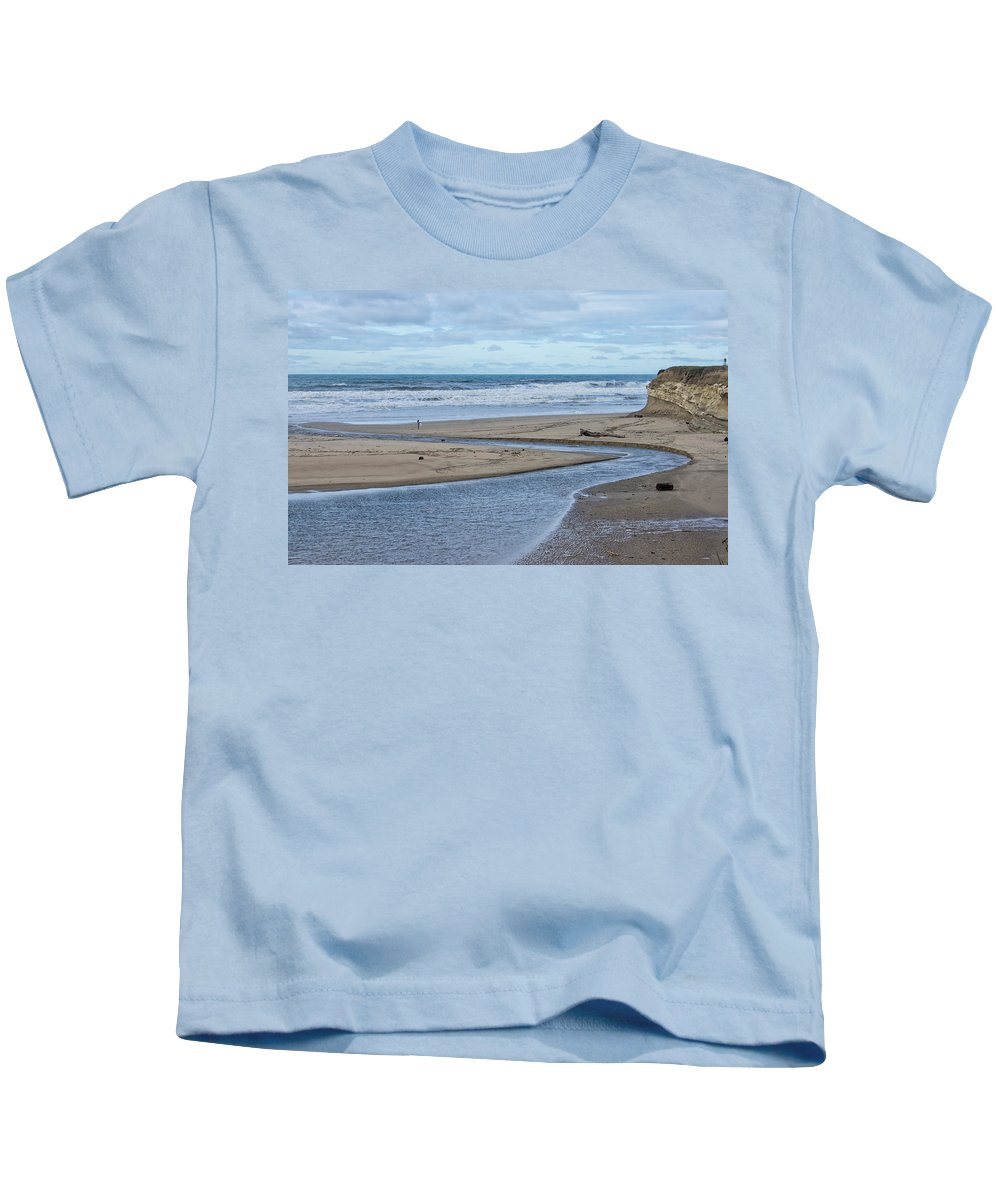 Pch Kids T-Shirt featuring the photograph Solitude by Diana Weir