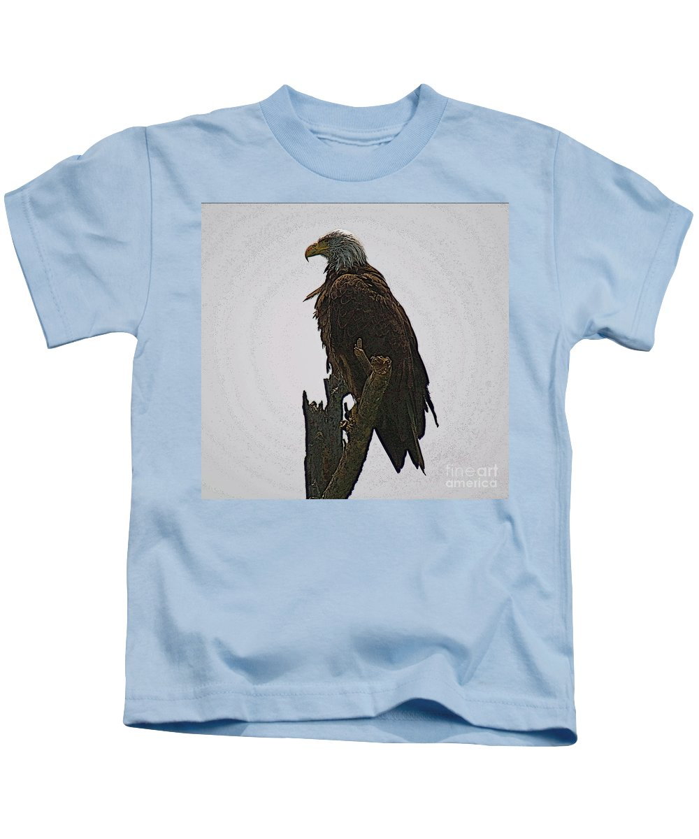 Bald Eagle Kids T-Shirt featuring the photograph Solitude by Robert Pearson