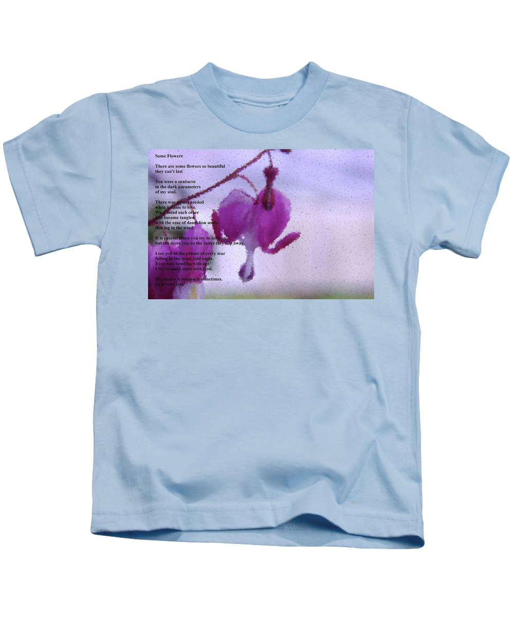 Floral Kids T-Shirt featuring the photograph Some Flowers by Jeff Swan